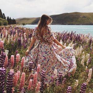 Boho Gypsy Floral Dress